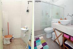 Banheiro ganhou vida com reforma de R$ 5 mil.