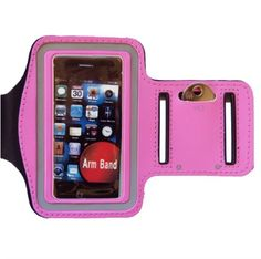 Mobilizers Adjustable Sports Gym Running Armband Case Holder With Valcro Strap For iPhone 4S / 4 / 3GS / 3G & iPod Touch 4th / 3rd / 2nd / 1st Generation - PINK. Provides excellent all round Protection for your iPhone. Light weight, sporty, stylish unique design. Soft, comfortable, and adjustable strip armband made with soft durable nylon material. It keeps your cell phone secure and protected with super-strong velcro strap. . You can run, ride, lift and more without missing a second of…