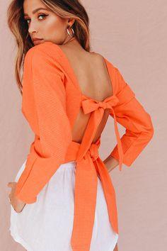 Zambesi Tie Back Top // Salmon - Verge Girl
