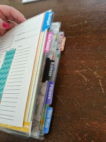 Life in print: Overview of my custom dividers in my planner