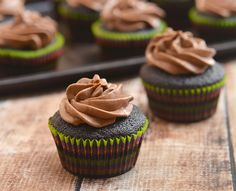 Super Moist Chocolate Cupcakes with Mocha Buttercream Frosting