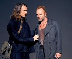 Sting and son Joe Sumner in 'Welcome To The Voice' Opera In Paris (2008)