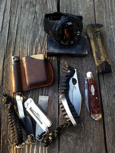 EDC pocket dump from flatblackcapo.