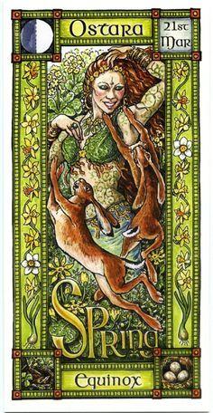 The Goddess and the Green Man   Ostara Spring Equinox   Ostara
