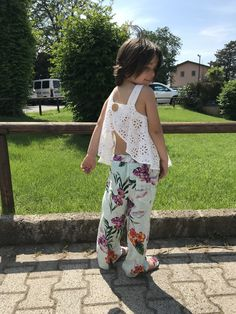 Emma in Zara Kids... large treasures and lace top!!!