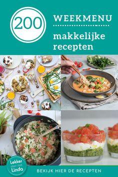 Weekmenu vol makkelijke recepten voor het avondeten. Kijk vooral even verder om het weekmenu te bekijken voor deze week. Risotto, Ethnic Recipes, Om