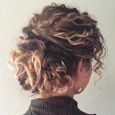 Messy Updo For Curly