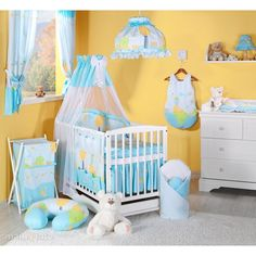 MAMO-TATO - Lenjerie patut 4 piese 120x60 Peisaj Bleu Crib Accessories, Baby Necessities, Dena, Baby Shop, Horse Riding, New Baby Products, Toddler Bed, Furniture, Home Decor