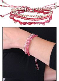 Live with Courage, Love with Faith, Laugh with Hope™ Bracelet - Pink at The Breast Cancer Site $12.95