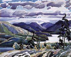 """""""La Cloche Hills,"""" Franklin Carmichael, watercolor, x private collection. Landscape Quilts, Landscape Art, Landscape Paintings, Maurice Denis, Edouard Vuillard, Canadian Painters, Canadian Artists, Henri Matisse, Paul Cézanne"""
