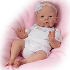 Ashton Drake Snuggle Bunny Lifelike Poseable Baby Doll So sweet, so tiny, so absolutely lovable! Precious Snuggle Bunny Baby Doll is ready to cuddle and anxiously awaits your endless hugs and kisses. Created by renowned Master Doll Artist Tasha Edenholm, this adorable baby doll is amazingly lifelike. #AshtonDrake #CollectibleDoll