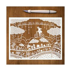 Handcut Paper Illustration  Good Things  by SarahTrumbauer on Etsy