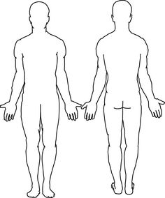 Outline picture parts of the human body great for students to draw body assessment tips for being active ccuart Images