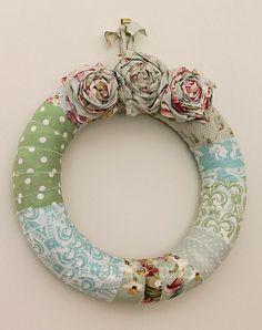 Fabric wreath. by eddie