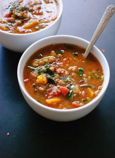 Healthy and delicious, homemade lentil soup - cookieandkate.com