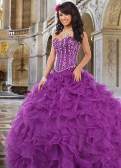 Purple Quinceanera Dress.