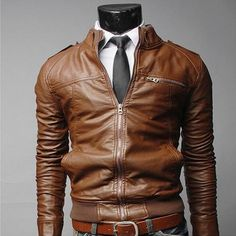 Leather Jacket Men Motorcycle Coat Hot Selling Leather Jacket Clothes Slim Chaqueta Clothing Uniform Suit Long Sleeve Costume