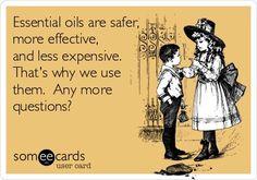 Essential oil humor. Young Living essential oils. For more information & to order oils, visit me at: www.facebook.com/jadoreoils
