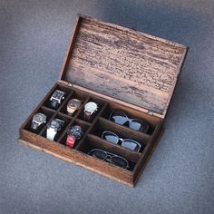 Personalized Rustic Men's Watch Box and by OurWeddingInvites