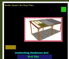 Wooden Carport Building Plans 065756 - Woodworking Plans and Projects!
