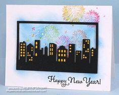 Happy New Year Card by Jeanne Streiff #Cardmakig, #NewYears