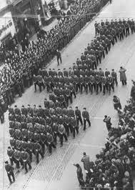 The funeral procession of Romanian legionary leader Corneliu Zelea Codreanu. Church Icon, Photo Report, History Photos, European History, Time Travel, World War Ii, Wwii, Funeral, Fields