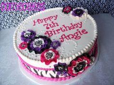 Zebra/Girly Birthday By Corrie76 on CakeCentral.com