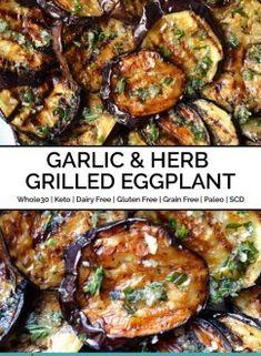 Grilled Eggplant Recipes, Vegan Eggplant Recipes, Cooking Eggplant, Vegan Dinner Recipes, Vegan Dinners, Vegetarian Recipes, Healthy Recipes, Grilled Vegan Recipes, Veggies