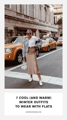 7 Cool (and Warm) Winter Outfits to Wear With Flats Cool winter outfits to wear with flats Winter Outfits For Teen Girls, Winter Outfits For School, Outfits For Teens, Trendy Outfits, Summer Outfits, Fashion Outfits, Cheap Fashion, Fashion Women, Women's Fashion