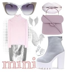 """""""City Walker Sweet Mini Handbags"""" by bvn01 ❤ liked on Polyvore featuring Yves Saint Laurent, Carven, WithChic, Roksanda, Dita, Messika and Anne Sisteron"""