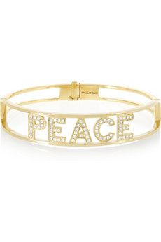 Spallanzani Jewels Peace 18-karat gold diamond bracelet | NET-A-PORTER