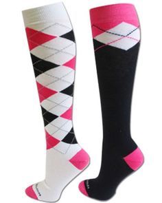 Argyle Socks 2 pair BlackWhitePink ML ** See this great product.(This is an Amazon affiliate link and I receive a commission for the sales)