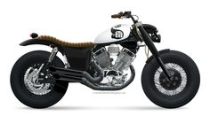 :: free the wheels ::: Photoshop Custom: Yamaha Virago 535 Street Tracker