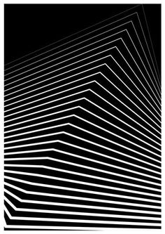 "New Media, ""White Building - Limited Edition 12 of in 2019 Art Optical, Optical Illusions, Op Art, White Building, Graphic Patterns, Doodle Patterns, Principles Of Art, Illusion Art, Renaissance Art"