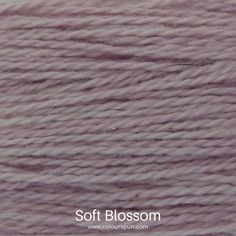 A ColourSpun Pure Cotton yarn and embroidery thread colour swatch. This colour is called Soft Blossom Colour Swatches, Super Chunky Yarn, Fabric Yarn, Yarn Colors, Embroidery Thread, Fabric Design, Cotton