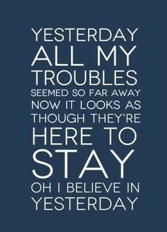 #TheBeatles - Yesterday