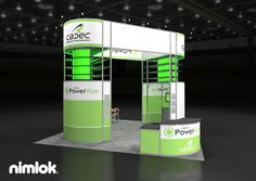 Nimlok designs custom modular trade show displays and exhibits. For PowerVue, we built a 20x20 trade show booth to meet their marketing needs.