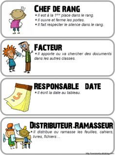 Classe • Affichages • Les responsabilités ~