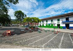 Southwest Antioqueño, Antioquia, Colombia. April 15, 2011: Main Park, Jardin.