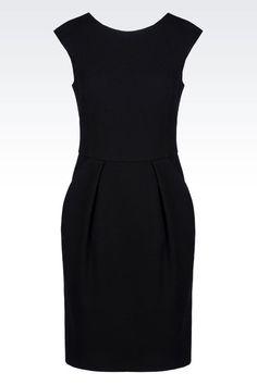 Armani Collezioni Women Short Dress - DRESS IN STRETCH WOOL Armani Collezioni Official Online Store