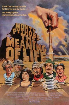 Monty Python's Meaning of Life (1983) Original Linen-Backed Movie Poster