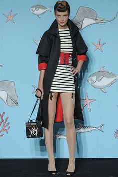 Olympia Le Tan SS 2014 #stripes #sailor #PFW