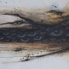 Detail of a new series of works by @mydogsighs, showing at @verticalgallery.