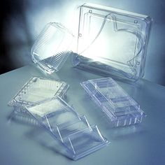 Thermoformed clamshell packaging A thermoformed clamshell is a hinged container that closes on itself and then seals the product inside. At Sunrise Packaging, Inc. we make these packaging solutions using thermoforming technology with thin gauge plastic, in-house tooling, and RF heat sealing.