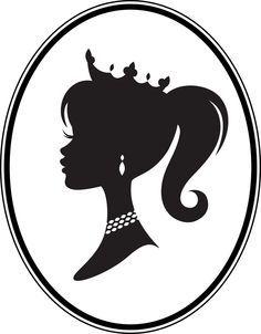 vintage barbie silhouette clip art - Google Search