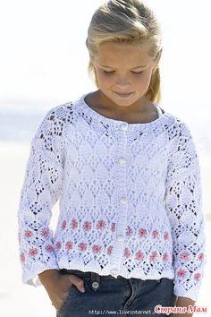 Интересные кофточки, пуловеры для девочек - Вязание - Страна Мам