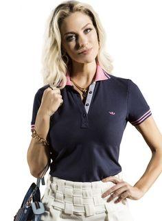 27 melhores imagens de Camisa Polo Feminina   Polo shirts, Women s e ... e3c931bb0d