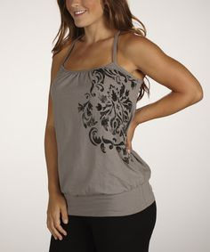 Take a look at this Smoke Divinity Tank by Marika on #zulily today!
