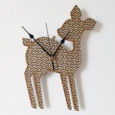 Retro Deer Clock