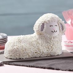 Easter Fluffy 3-D Lamb Cake - It wouldn't be Easter brunch without this sweet lamb cake seated at the center of the table!